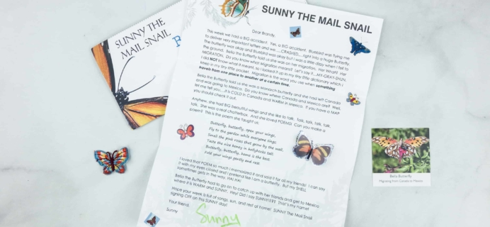 Snail Mail for Kids June 2018 Subscription Box Review – WEEK 1