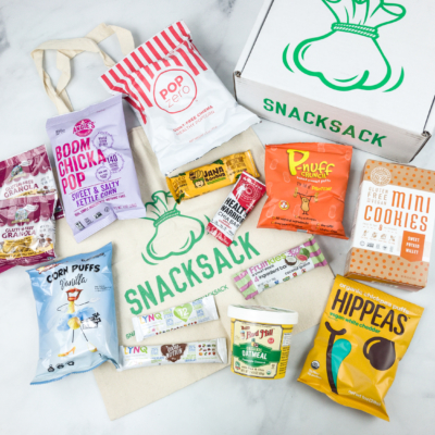 SnackSack April 2018 Subscription Box Review & Coupon – Vegan