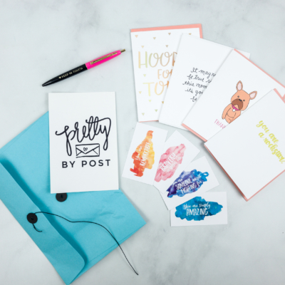 Pretty By Post Greeting Card May 2018 Subscription Box Review + Coupon