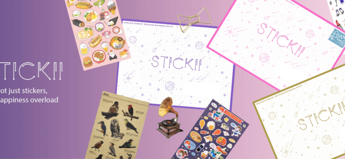 Stickii Sticker Subscription November 2018 Spoilers & Coupon!