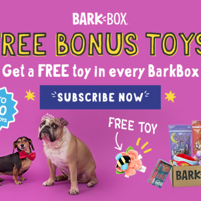 BarkBox Coupon: Get FREE Bonus Toy Every Month With 6 Or 12 Month Subscription! LAST DAY!