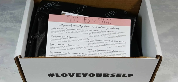 SinglesSwag Subscription Box Review & Coupon – June 2018