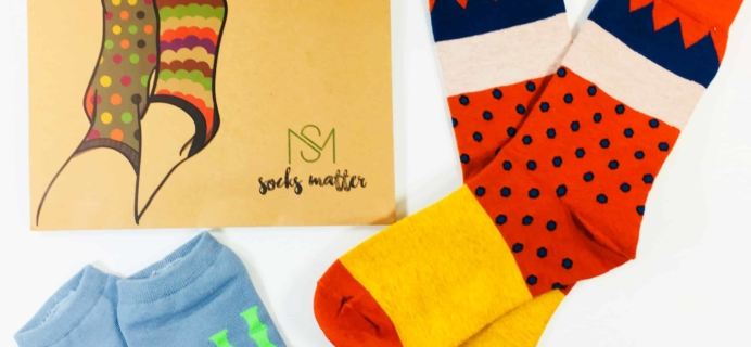 Socks Matter June 2018 Subscription Box Review + Coupon