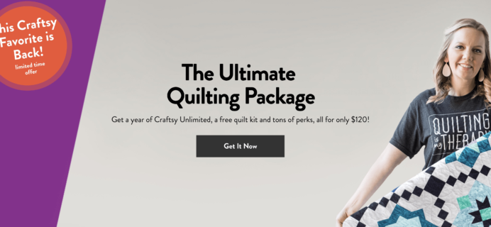 Craftsy Unlimited Coupon: Get Craftsy Unlimited Ultimate Quilting Package For Only $120!