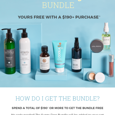 The Detox Market Gift With Purchase Promo: Get FREE Sunny Days Bundle With $190+ Purchase!
