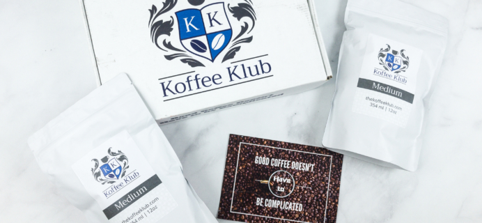 Koffee Klub Subscription Box Review + 50% Off Coupon!