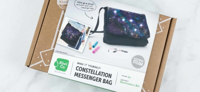KiwiCo STEAM Review & Coupon – Constellation Messenger Bag