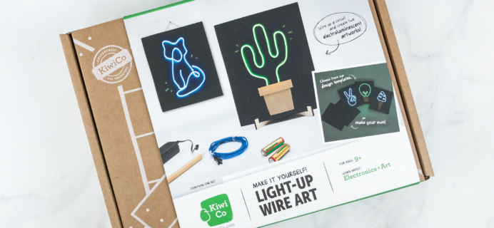 KiwiCo STEAM Crate Review & Coupon – Light Up Wire Art