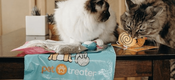 Get Your First Month Of Pet Treater Cat Pack For Only $5!