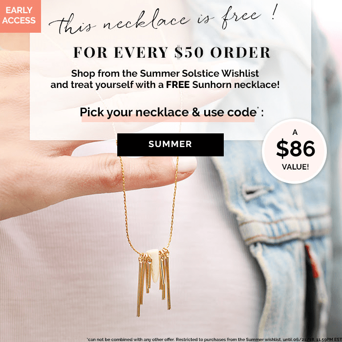Emma & Chloe Coupon: Get Free Sunhorn Long Necklace! EXTENDED!