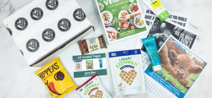 All Around Vegan Box June 2018 Subscription Box Review + Coupon