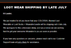 Loot Wear June 2018 Shipping Delays