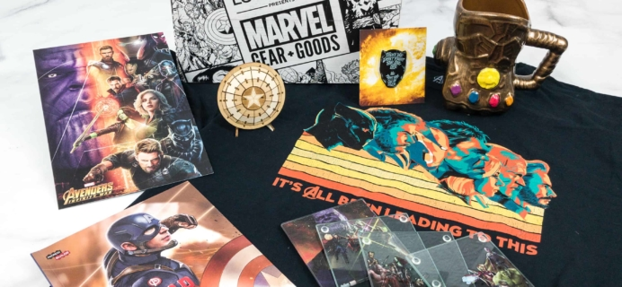 Marvel Gear + Goods May 2018 Subscription Box Review + Coupon!