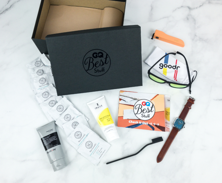 GQ Best Stuff Box Spring 2018 Subscription Box Review - hello subscription