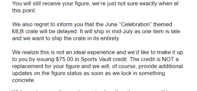 Sports Crate: MLB Edition Bonus Figure & June 2018 Shipping Update!