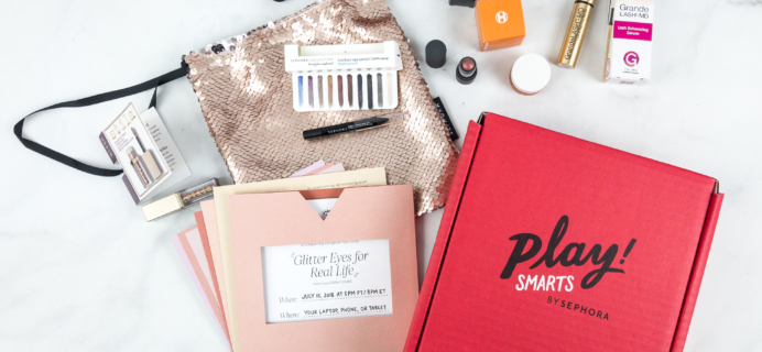 PLAY! by Sephora PLAY! SMARTS – Glitter Eyes for Real Life Limited Edition Box Review