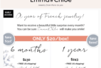 Emma & Chloe Coupon: Get Every Box for $20 on a 6+ Month Subscription!