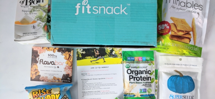 FitSnack June 2018 Subscription Box Review & Coupon