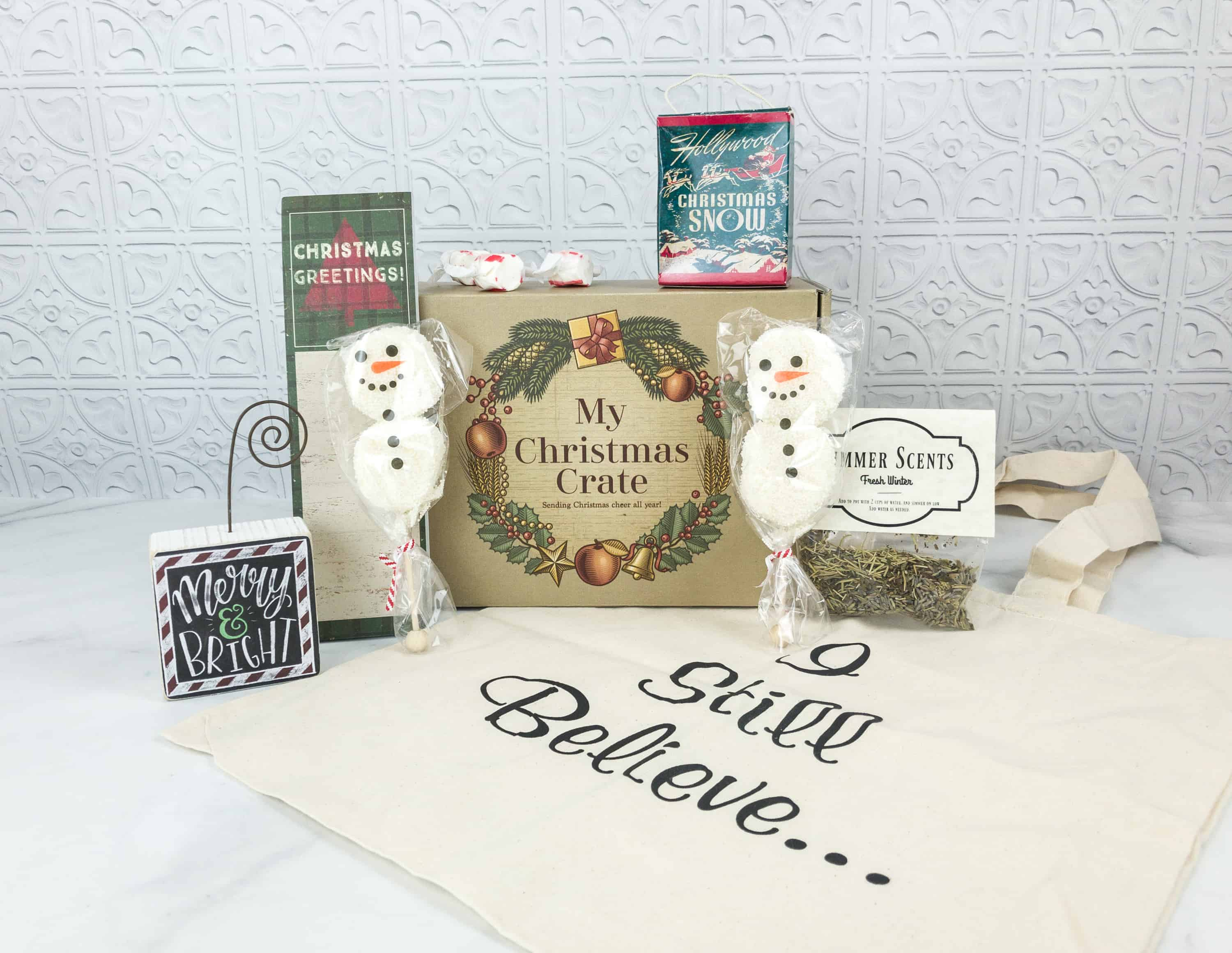 Christmas Crate Box.My Christmas Crate June 2018 Subscription Box Review