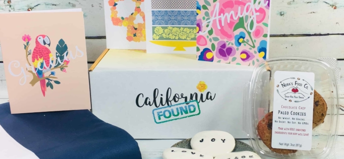 California Found June 2018 Subscription Box Review + Coupon
