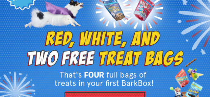 BarkBox July 4th Promo: Get Two FREE Treat Bags!