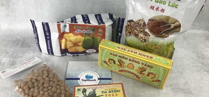 TopMunch June 2018 Subscription Box Review + Coupon – Vietnam