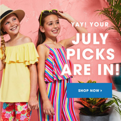 FabKids July 2018 Collection + Coupon!