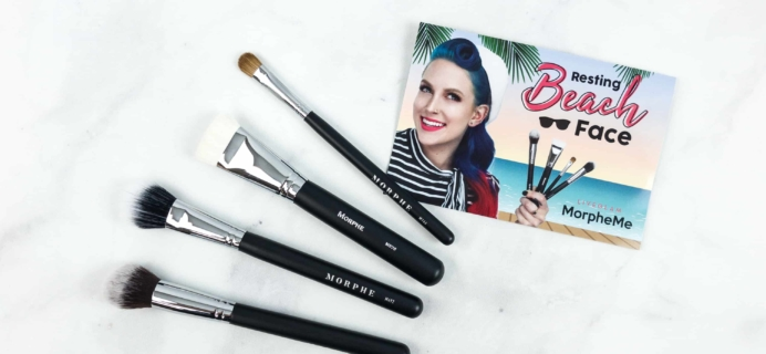 MorpheMe Brush Club July 2018 Subscription Box Review + Free Brush Coupon!