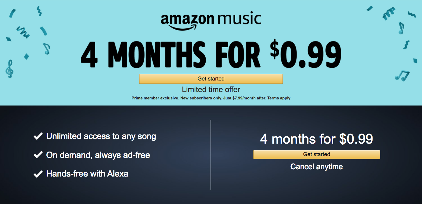 amazon music unlimited promo code october 2018