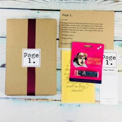 Page 1 Books July 2018 Subscription Box Review + Coupon