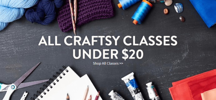 Craftsy Weekend Sale: All Craftsy Classes Under $20!
