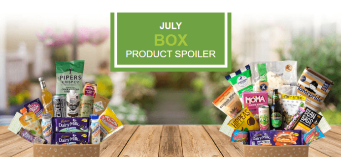 Degustabox UK July 2018 Spoiler – First Box £7.99 + Free Gift!