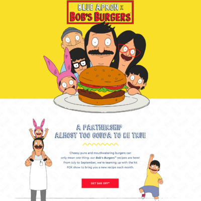 Blue Apron x Bob's Burgers Available Now + $60 Coupon!