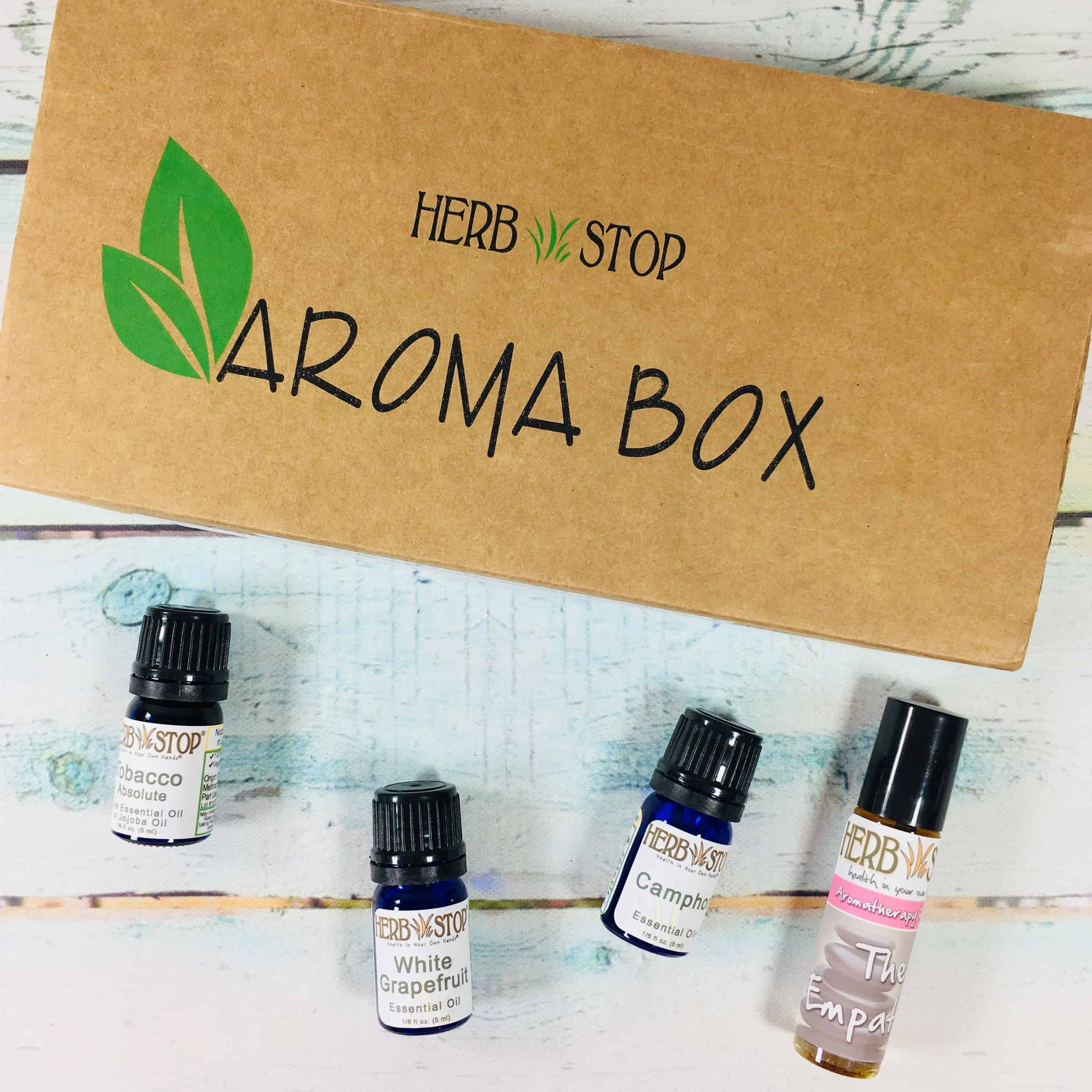 Herb Stop AromaBox Subscription Review & Coupon – July 2018