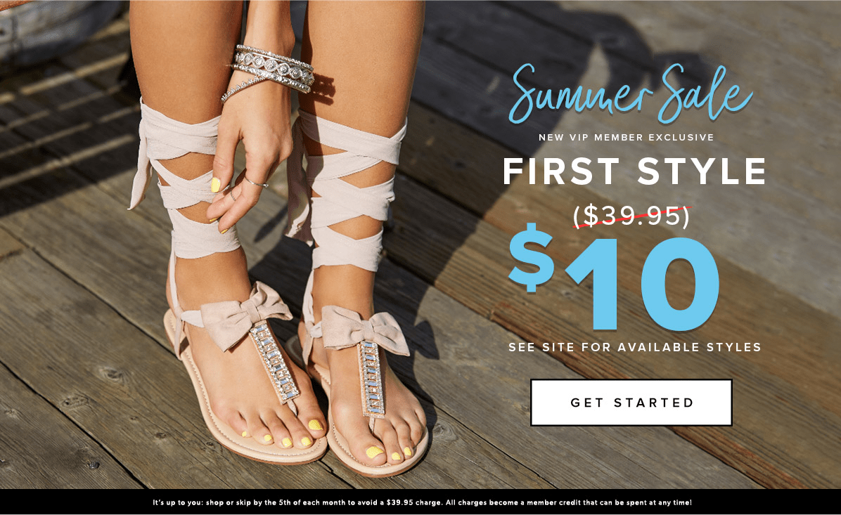 Shoedazzle Summer Sale : Get Your First