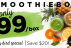 SmoothieBox Early Bird Sale: Get $20 Off Your First Box! LAST DAY!