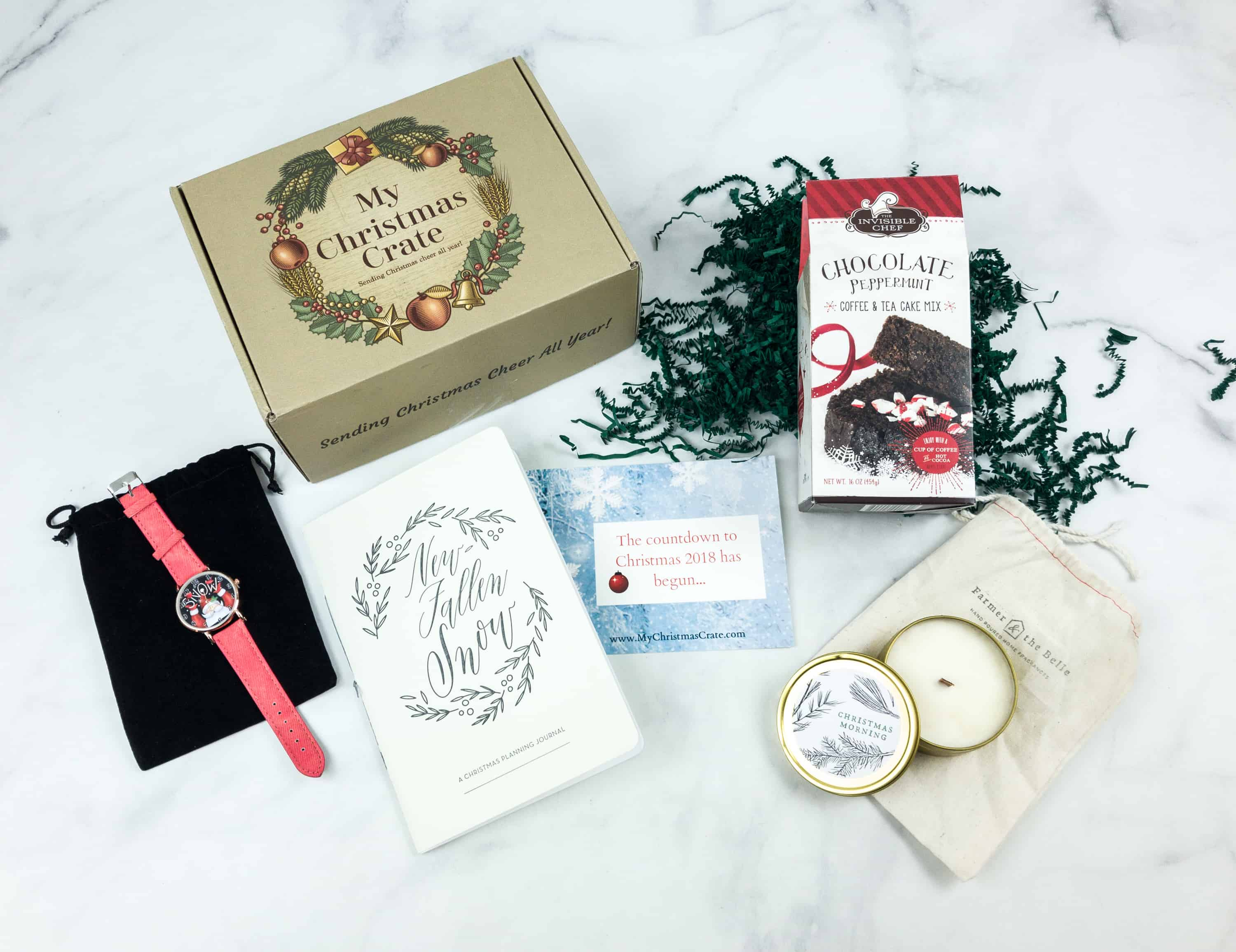 Christmas Crate Box.My Christmas Crate July 2018 Subscription Box Review