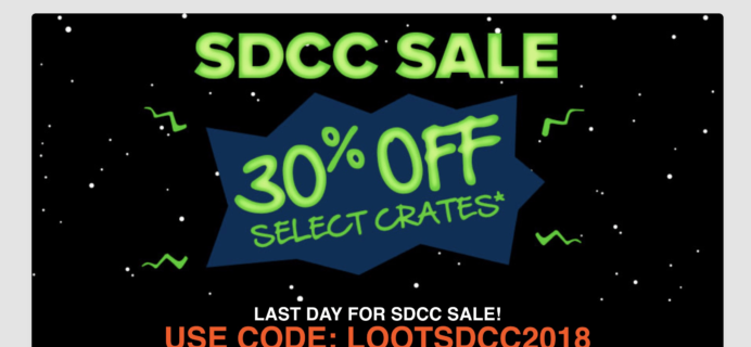 Loot Crate Coupon: Get 30% Off Select Crates! LAST DAY!