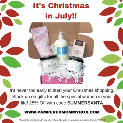 Pampered Mommy Christmas in July Deal: 25% Off All Boxes!