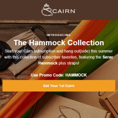 Cairn Coupon: Get The Hammock Collection As Your First Box!