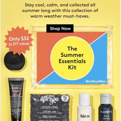 New Birchbox Man Limited Edition Box: Summer Essentials Kit+ Coupons!