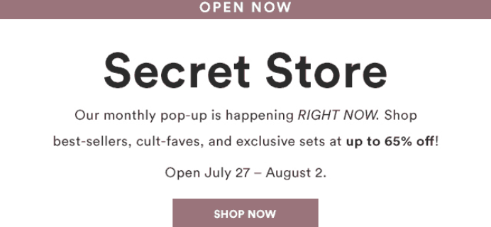Julep August 2018 Secret Store Open!