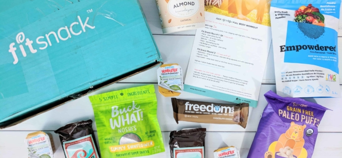 FitSnack July 2018 Subscription Box Review & Coupon
