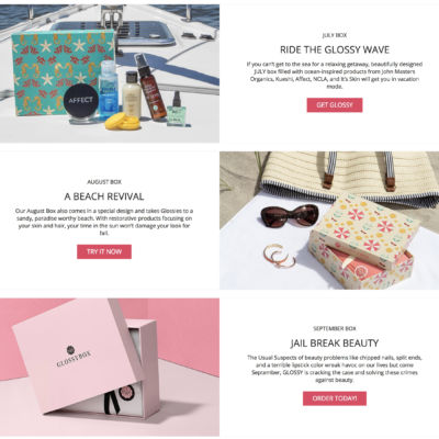 GLOSSYBOX One Day Sale: 3 Month Bundle For Price of Two!