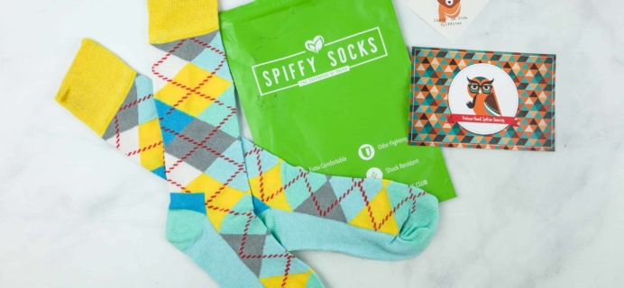 Spiffy Socks August 2018 Subscription Box Review  + Coupon