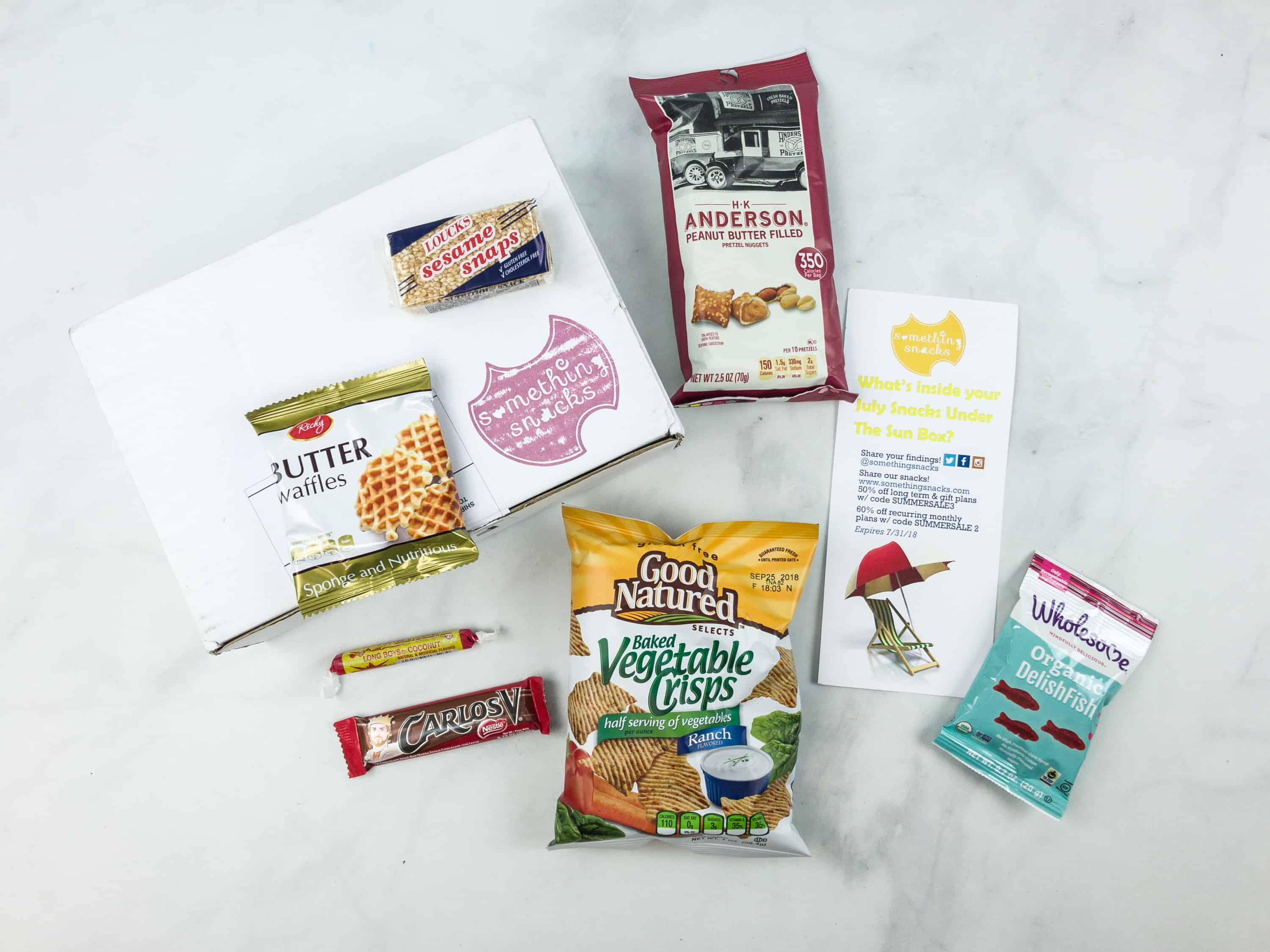 Something Snacks July 2018 Subscription Box Review