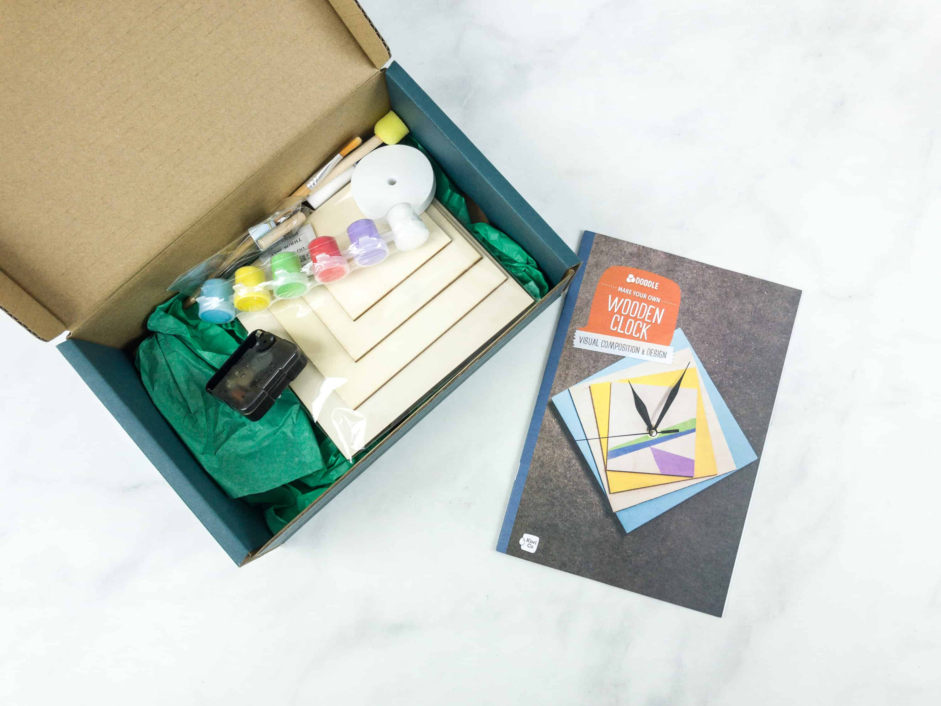 Doodle Crate Subscription Box Review Coupon Wooden Clock Hello