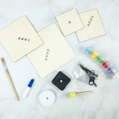 Doodle Crate Subscription Box Review & Coupon – WOODEN CLOCK