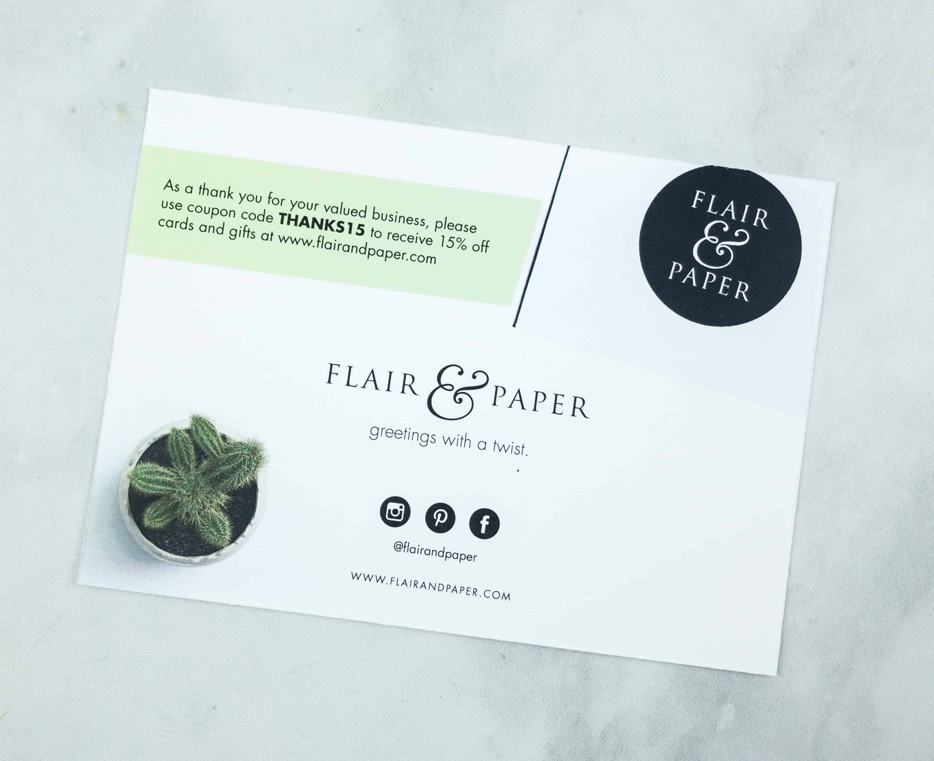 Flair And Paper July 2018 Subscription Box Review Coupon Hello