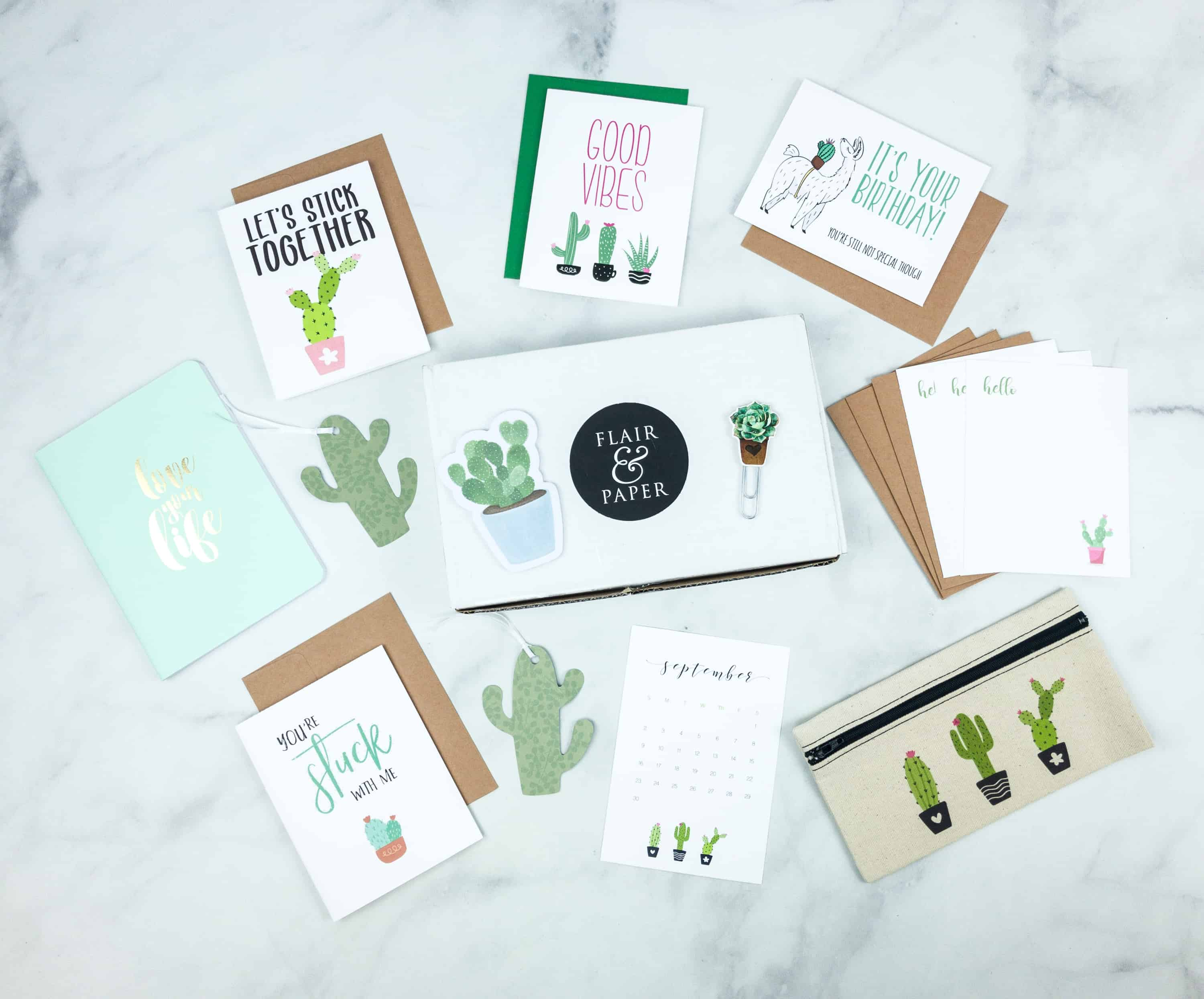 Flair and Paper July 2018 Subscription Box Review & Coupon